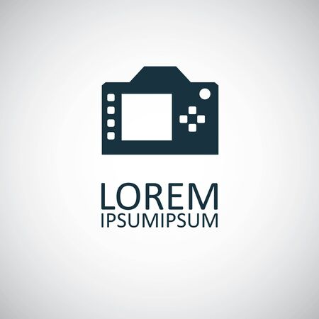 dslr icon for web and UI on white background  イラスト・ベクター素材