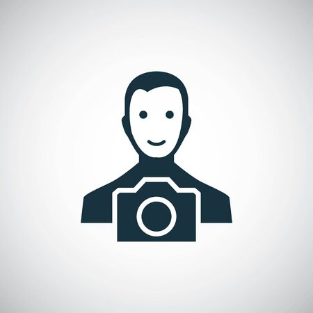 photographer icon for web and UI on white background Illusztráció