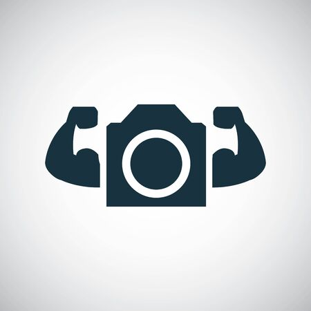 photo strong icon for web and UI on white background