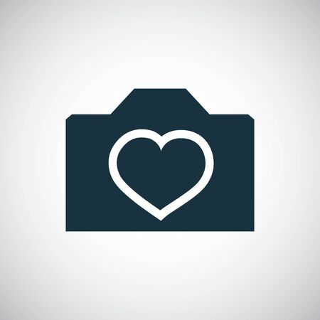 love photography icon for web and UI on white background