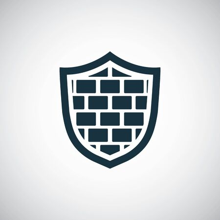 shield wall icon for web and UI on white background