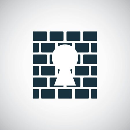 wall lock icon for web and UI on white background