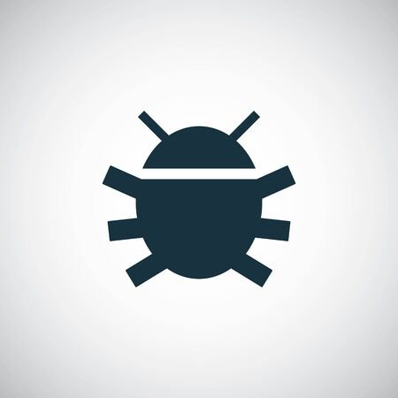 bug icon for web and UI on white background  イラスト・ベクター素材