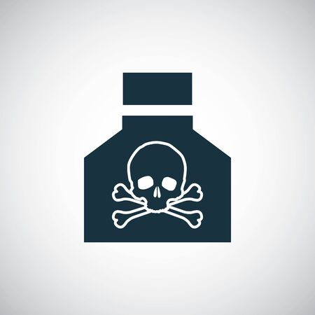 poison icon for web and UI on white background