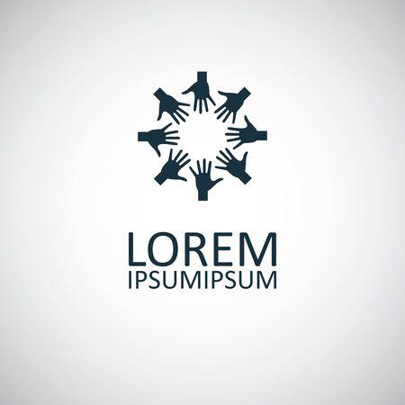 arm palm cirkel pictogram voor web en UI op witte achtergrond
