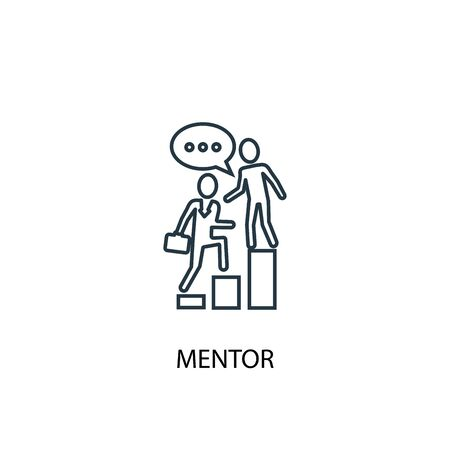 mentor concept line icon. Simple element illustration. mentor concept outline symbol design. Can be used for web and mobile UI Vetores