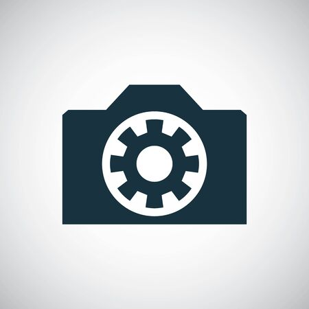 photo camera icon for web and UI on white background