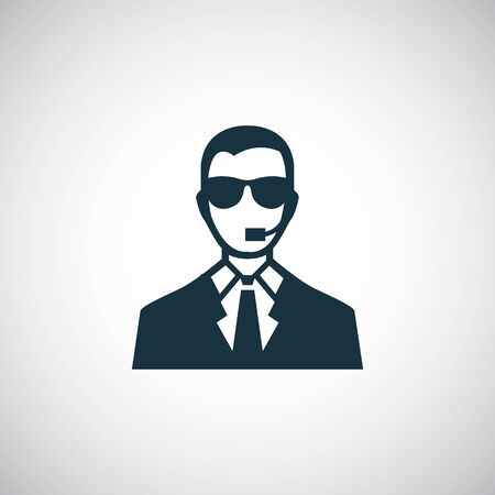 security man icon for web and UI on white background