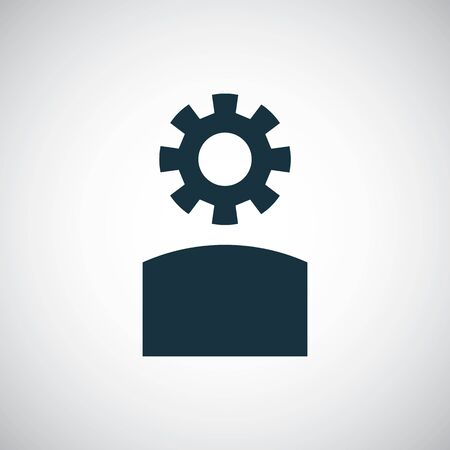 setting gear head icon for web and UI on white background