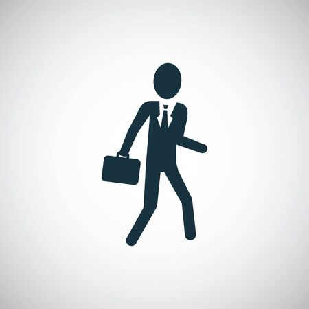 businessman icon, on white background.