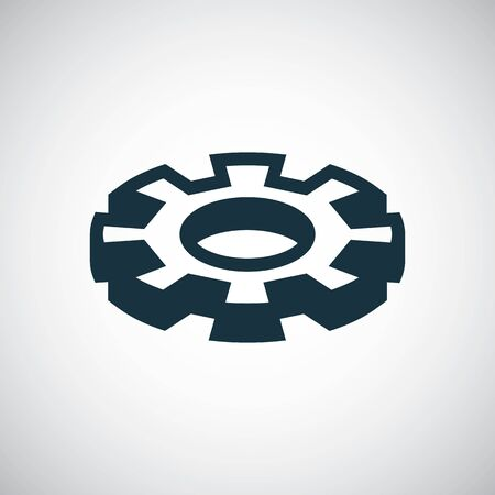 setting gear icon. for web and UI on white background Ilustracja