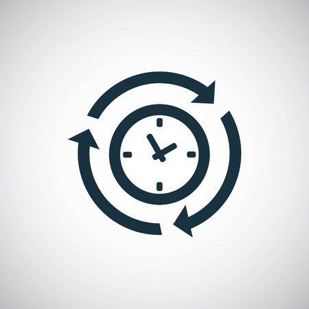 time arrow icon for web and UI on white background Banque d'images - 130776141