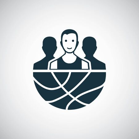 basketball team icon for web and UI on white background