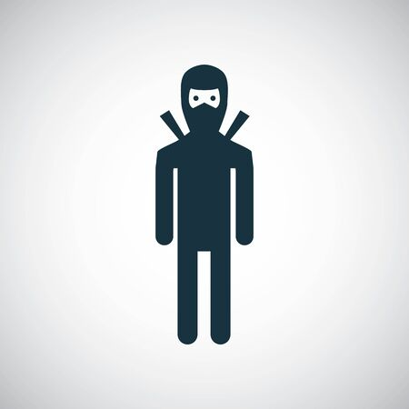 ninja icon for web and UI on white background Иллюстрация