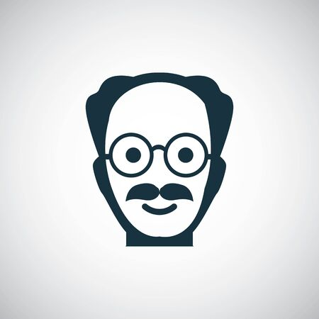 scientist icon for web and UI on white background