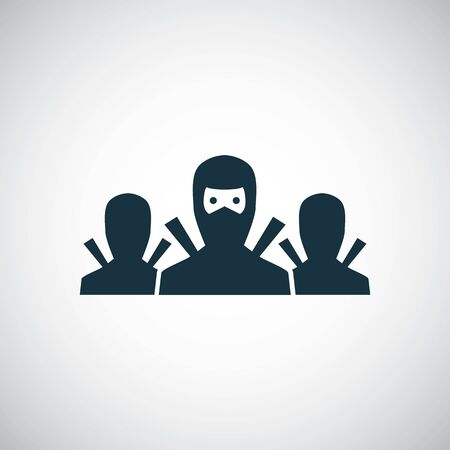 ninja team icon for web and UI on white background