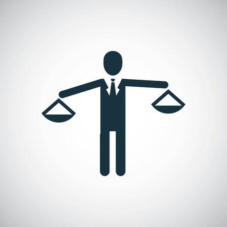 zakenman schaal pictogram voor web en UI op witte achtergrond Vector Illustratie