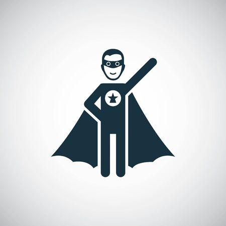 Superhelden-Symbol für Web und UI auf weißem Hintergrund Vektorgrafik