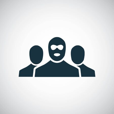 bandit group icon for web and UI on white background Çizim
