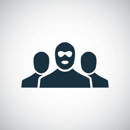 Banditen-Gruppensymbol für Web und Benutzeroberfläche auf weißem Hintergrund