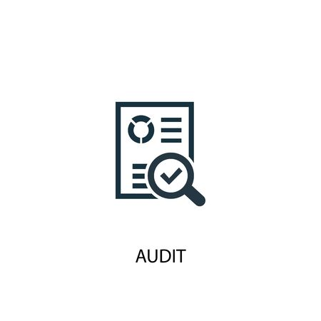 audit icon. Simple element illustration. audit concept symbol design. Can be used for web and mobile.