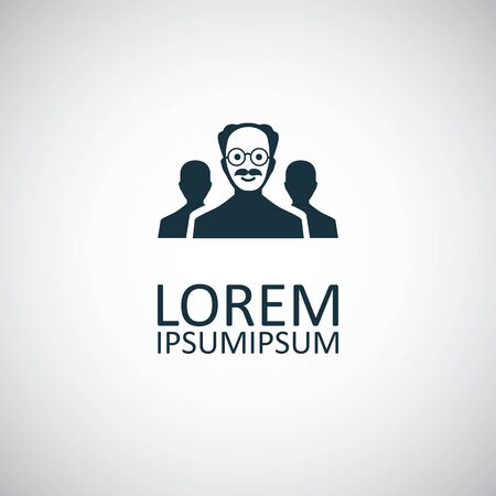 scientist group icon. for web and UI on white background Çizim