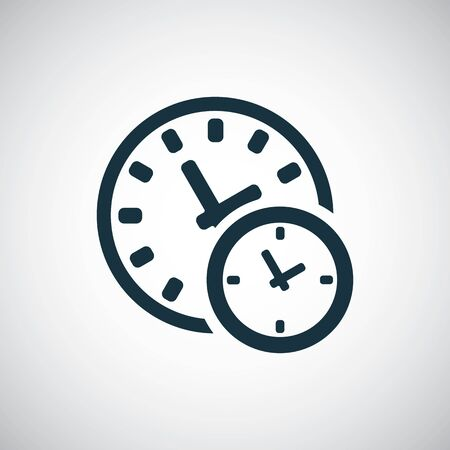 time watch icon for web and UI on white background