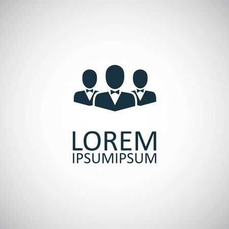 business team icon. for web and UI on white background