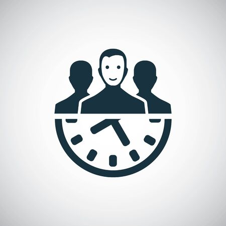 team time icon for web and UI on white background