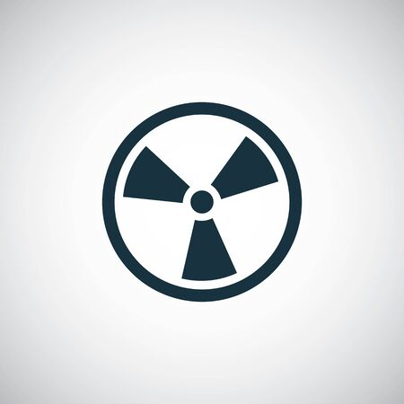radiation sign icon for web and UI on white background