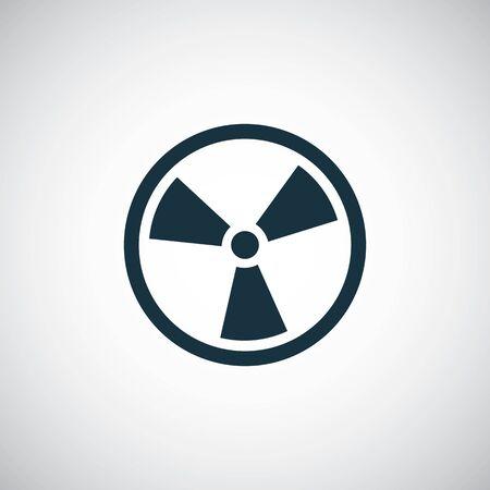 Strahlungszeichensymbol für Web und Benutzeroberfläche auf weißem Hintergrund