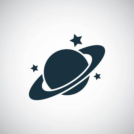 icône de la planète pour le web et l'interface utilisateur sur fond blanc