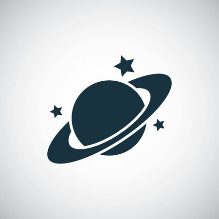 planet icon for web and UI on white background