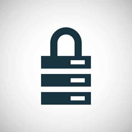 server lock icon for web and UI on white background
