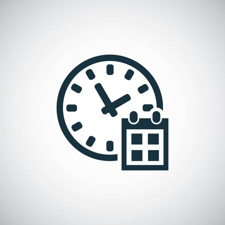 time watch calendar icon for web and UI on white background Stock Illustratie