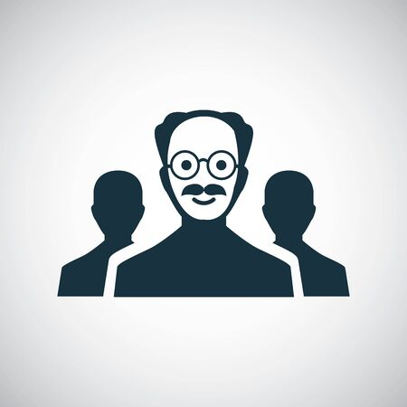 scientist group icon for web and UI on white background