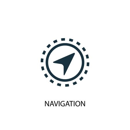 Navigation icon. Simple element illustration. Navigation concept symbol design. Can be used for web and mobile.