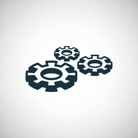setting gear icon for web and UI on white background