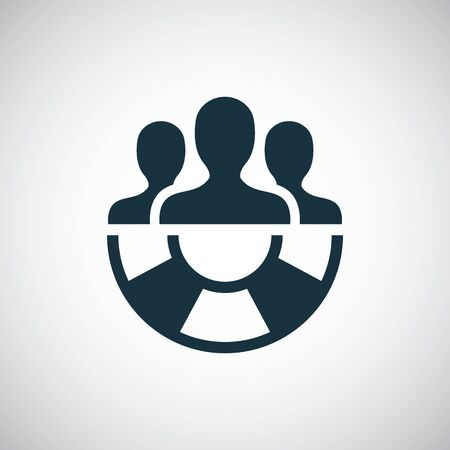 rescuer lifebuoy icon for web and UI on white background