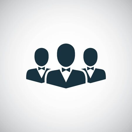 business team icon for web and UI on white background Çizim