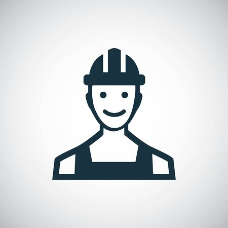 worker icon for web and UI on white background
