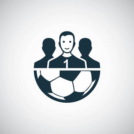 football team icon for web and UI on white background