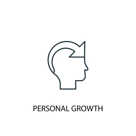 personal growth concept line icon. Simple element illustration. personal growth concept outline symbol design. Can be used for web and mobile UI 向量圖像
