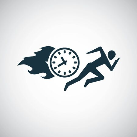 man running time icon for web and UI on white background