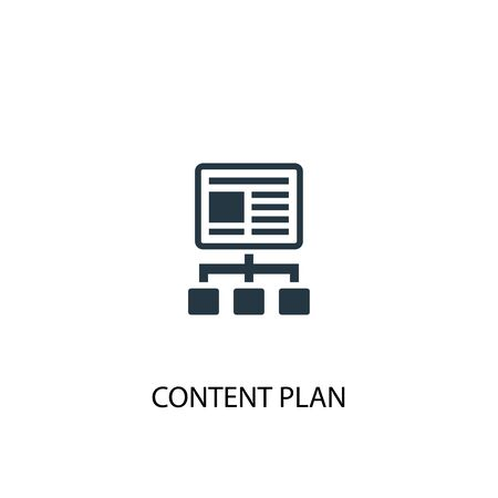 content plan icon. Simple element illustration. content plan concept symbol design. Can be used for web