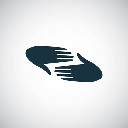 palm care icon, on white background.