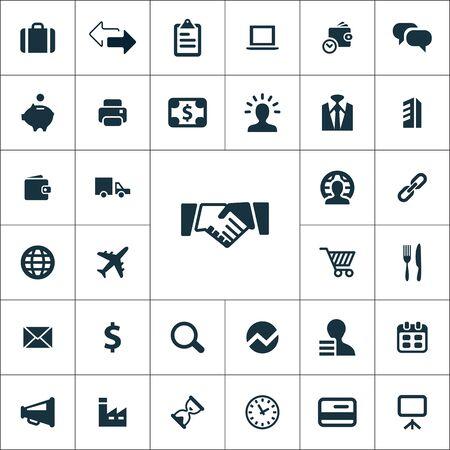 B2B icons universal set for web and mobile.