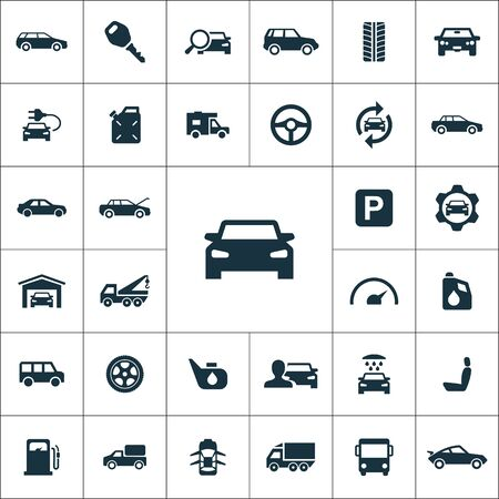 auto icons universal set for web and mobile.