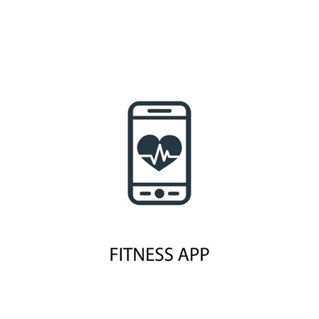 fitness app icon. Simple element illustration. fitness app concept symbol design. Can be used for web
