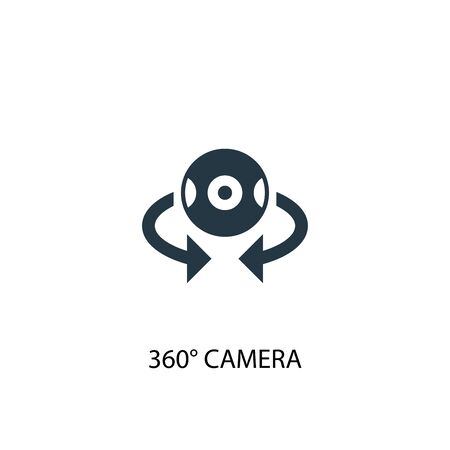 360 camera icon. Simple element illustration. 360 camera concept symbol design. Can be used for web Illusztráció